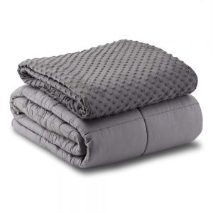 grey mink dot weighted blanket